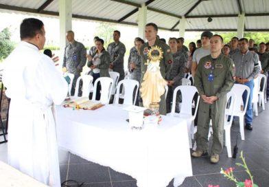 El Grupo Aéreo del Casanare celebró el Día de la Virgen del Carmen